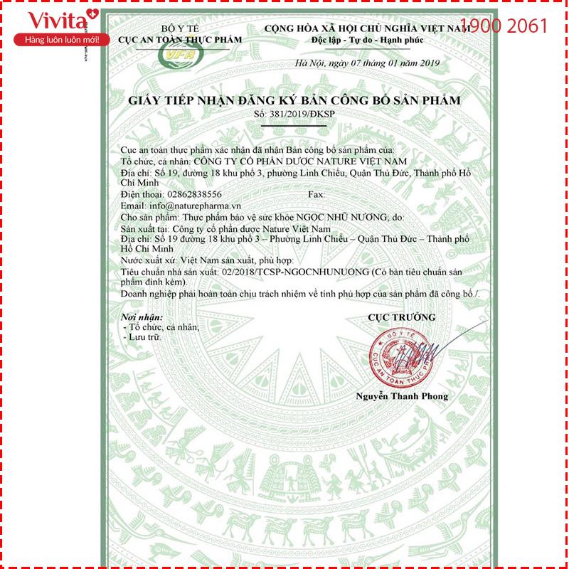 giấy chứng nhận bộ y tế