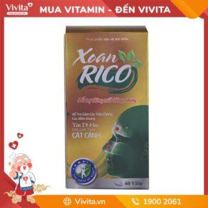 Xoan Rico | Giải pháp cho viêm mũi, xoang | Hộp 60 viên