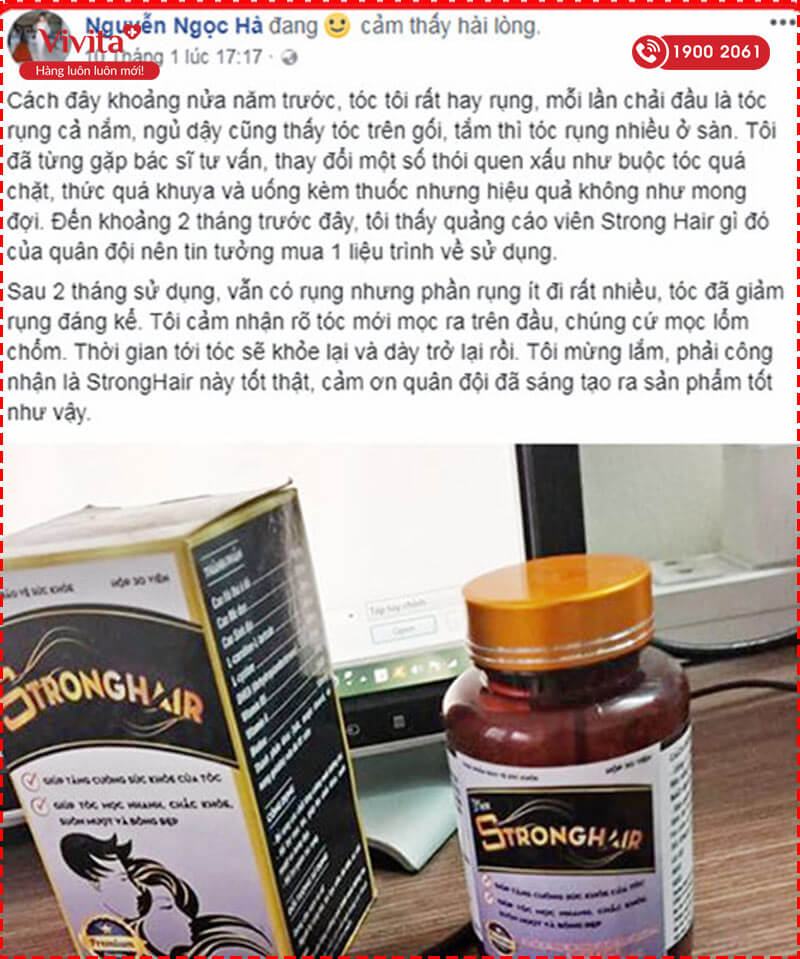 Viên Uống Strong Hair | Hỗ Trợ Làm Khỏe Tóc, Dày Mượt | Hộp 30 Viên