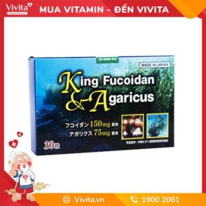 Viên Uống King Fucoidan & Agaricus | Hỗ Trợ Điều Trị U Bướu | Hộp 30 Viên