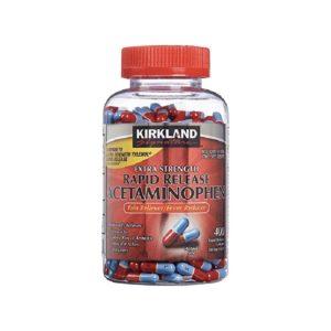 Viên giảm đau Kirkland Extra Strength Acetaminophen 500mg