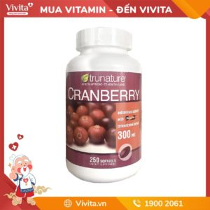 Viên uống Trunature Cranberry 300mg nam việt quất - Ngăn nhiễm trùng tiết niệu