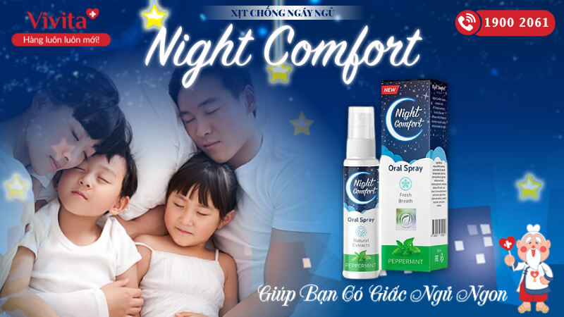 Xịt Night Comfort | Chống Ngáy Ngủ | Chai 30ml
