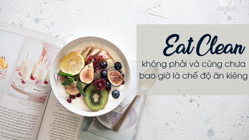 chế độ ăn eat clean giảm cân