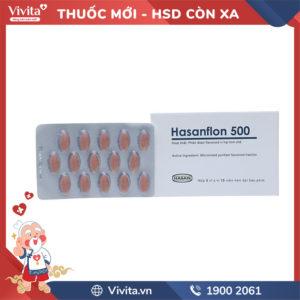 Thuốc trị trĩ, suy giãn tĩnh mạch Hasanflon 500 Hộp 30 viên