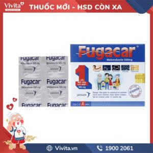 Thuốc tẩy giun sán Fugacar 500mg Hộp 4 viên