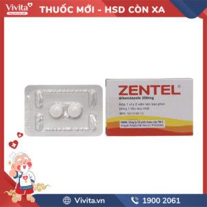 Thuốc trị giun sán Zentel 200mg Hộp 2 viên