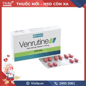 Thuốc trị trĩ, suy giãn tĩnh mạch Venrutine Hộp 30 viên