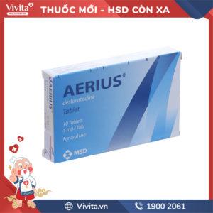 Thuốc chống dị ứng Aerius 5mg Hộp10 viên