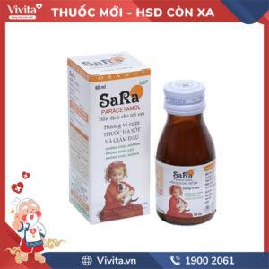 Siro giảm đau, hạ sốt cho trẻ em hương cam Sara Chai 60ml
