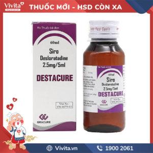 Siro trị viêm mũi dị ứng Destacure 2.5mg/5ml Chai 60ml