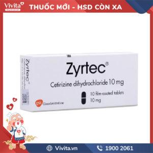 Thuốc chống dị ứng Zyrtec 10mg Hộp 10 viên