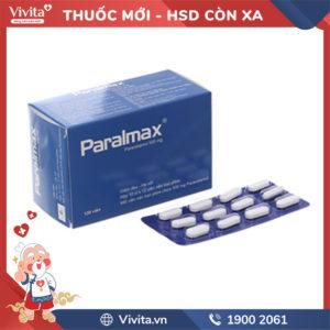 Thuốc giảm đau, hạ sốt Paralmax 500mg Hộp 120 viên
