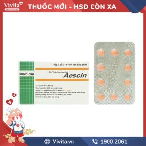 Thuốc Aescin 40mg Hộp 30 viên