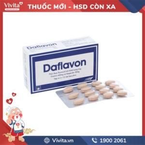 Thuốc trị trĩ, suy giãn tĩnh mạch Daflavon Hộp 60 viên