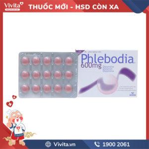 Thuốc trị trĩ, suy giãn tĩnh mạch Phlebodia 600mg Hộp 30 viên