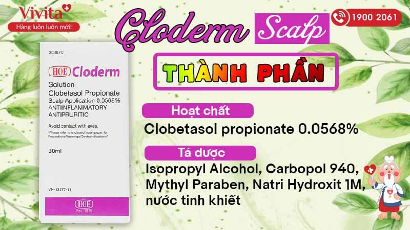 Thành phần của thuốc bôi Cloderm Scalp