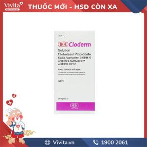 Thuốc bôi trị các bệnh về da Cloderm Scalp | Chai 30ml