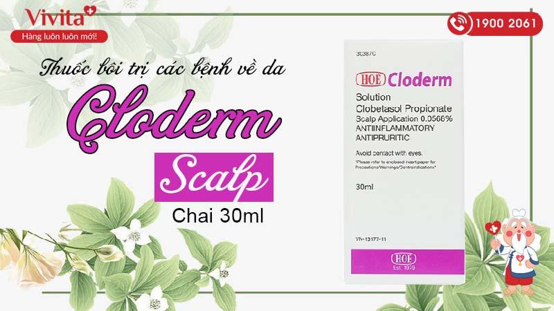 Thuốc bôi trị các bệnh về da Cloderm Scalp