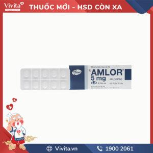 Thuốc trị cao huyết áp Amlor 5mg
