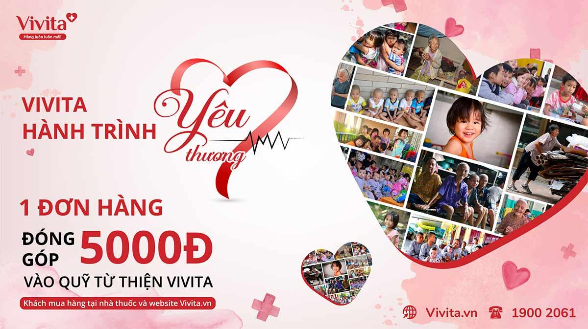 banner trang chủ vivita quyên góp từ thiện
