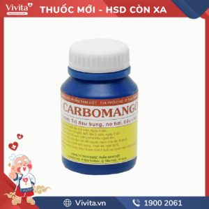 Thuốc trị đầy hơi, khó tiêu Carbomango